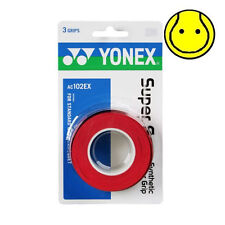 RED Yonex Super Grap Overgrip - 3 Pack - Tennis, Badminton Supergrap  AC102EX