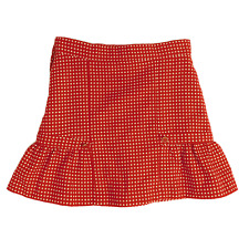 Janie and Jack Size 10 Girls Red Button Dot Wool Blend Skirt