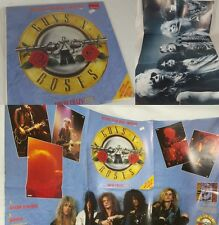 RARE! store SLEEVED IMPORT rock EP record album GUNS N ROSES LIMITED XL poster