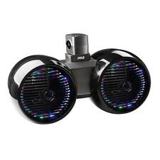 Pyle PLMRWB652LEB Marine Tower Wakeboard 6.5'' LED Speakers, Waterproof, Black