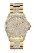 Juicy Couture Women's Charlotte Gold Tone Stainless Steel Crystal Watch 1901364