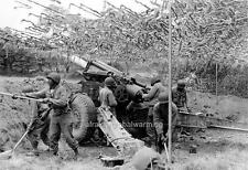 Photo. WW2. France. African American Gunners - Howitzer