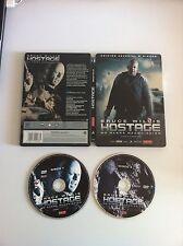 HOSTAGE - BRUCE WILLIS - 2 DVD EDICION ESPAÑOLA STEELBOOK CAJA METALICA