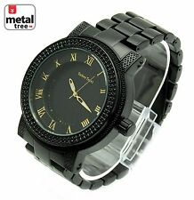 Men's Heavy Weight Analog Stainless Steel Metal Heavy Band Watch 1251 BK