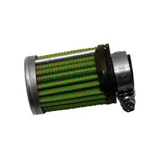 Green Cylindrical Crank Case Breather Filter - 15mm ID x 35mm x 40mm