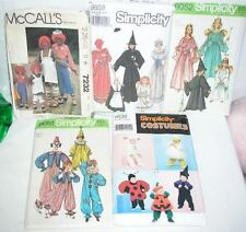 5 packs HALLOWEEN COSTUME PATTERNS RAGGEDY ANN WITCH CLOWN + Bow Wow Dog costume