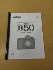 NIKON D50  DIGITAL CAMERA FULLY PRINTED INSTRUCTION MANUAL USER GUIDE 148 PAGES