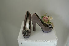 Gorgeous - ALDO - Glitzy Glam Sequin Silver Evening Party Heels Shoes 38 5  -