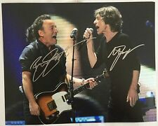 MICK JAGGER & BRUCE SPRINGSTEEN. Genuine Autographed Photograph. COA.