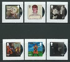 GREAT BRITAIN 2017 DAVID BOWIE SET OF 6 SELF ADHESIVE  FINE USED