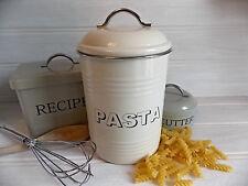 PASTA SMALTO Container di immagazzinamento CREMA Retrò Vintage Cucina Sala da Pranzo