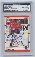 PATRICK ROY SIGNED 1990-91 SCORE CARD #10 PSA/DNA CERTIFIED 83738371