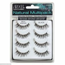 Ardell Natural Lashes Demi Wispies Black x 4 packs -UK SELLER - Genuine Lashes