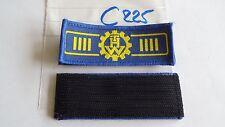 THW insignia de rango amarillo en azul claro STV bds. portavoz 2 unidades + velcro (c225+) je4, 40