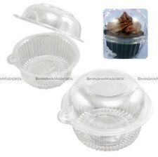 100pcs Clear Plastic Cupcake Cake Case Muffin Pod Dome Holder Box Container Owl