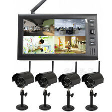 "4 en 1 7 "" DVR digital 2.4G Wireless IR Cámaras seguridad monitor bebé canales"