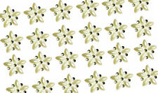 24 MINI PEARL & AB CRYSTAL SELF ADHESIVE FLOWERS approx size 1.5cm dia