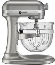 KitchenAid Pro 600 Stand Mixer kf26m22sr 6-Qt Glass Bowl Sugar Pearl Silver