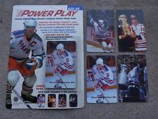 NY Rangers Hockey Star Mark Messier POWER PLAY Phone Cards Set (8) Stanley Cup