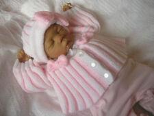 """""""pliegues"""" 4 PCE Set para bebé prematuro bebé mono o 14-16 Muñeca o instrucciones de punto. ()."""