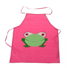 Hot Children Waterproof Apron With Cartoon Frog Prints For Painting/Cooking QK