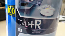 TDK 100 Pack DVD+R Recordable 4.7G, 16X White Discs