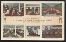 Postcard ROCHESTER New York/NY  H.B. Graves Furniture Store Multi-view 1910?