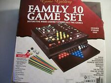GAME GALLERY BOARD GAME FAMILY 10 GAME SET CHESS CHECKERS BACKGAMMON AND MORE