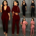 Women Ladies Clubwear Playsuit V-neck Bodycon Party Jumpsuit&Romper Trousers