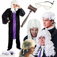 Adult Judge Fancy Dress Costume Outfit Barrister Lawyer Court Prop Accessory Lot