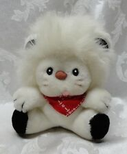 Knickerbocker White LION Vintage 1982 Bandanna Frou Frou Bandy Applause Plush