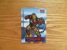 2001 MARVEL LEGENDS IRON MAN SECRET IDENTITY CHASE CARD SIGNED SEAN CHEN, POA