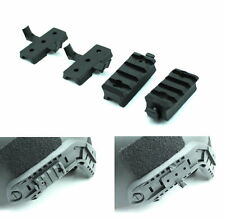 Airsoft Mich Helmet Fast Helmet Mount Rail Set 2 Piece 20mm Rail black