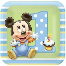 Party Supplies Boys Mickey Mouse 1st Birthday Luncheon Plates Pack of 8
