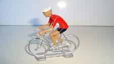 ANCIEN COUREUR CYCLISTE ANNEE 70 80 - MAILLOT ROUGE TOUR DE FRANCE  (6x6cm)