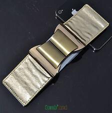 Black Red White Sliver Golden cooper buckle 6cm wide Stretch elastic belt 1425