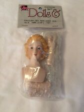 Mangelsen's Porcelain Lady Head Hands and Legs 161-76 Doll Parts Crafting 2 3/4""