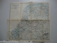 Antique map Netherlands Holland /  mappa antica Paesi Bassi carte Pays-Bas 1897