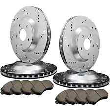 [FRONT&REAR] 4 DRILLED SLOTTED PERFORMANCE BRAKE ROTORS +8 CERAMIC PAD ATL017806
