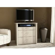 """3 Drawer Chest of Drawers Media Dresser WHITE TV Stand for up to 32"""" Sets NEW"""