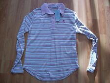 New pink stripe long sleeve top from Cottonique, Size M