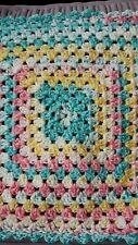 hand crocheted small dolls blanket - 37cm x 37cm