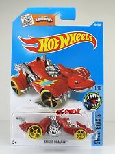 Hot Wheels 2016 #201 Knight Draggin' RED,1ST COLOR,YLW TIRE,BLUE RIM,OH5SP,INTL