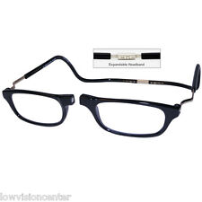 1.25 Clic XXL Adjustable Front Connect Magnetic Reading Glasses Frame Expandable