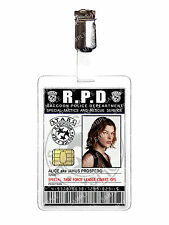 Resident Evil Raccoon Police Alice ID Badge Zombie RPD Cosplay Prop Halloween