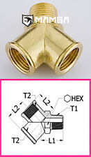 Brass Adapter Fitting Y type Street Tee 1/8 BSP Male to 1/8 BSP Female (50 pcs)
