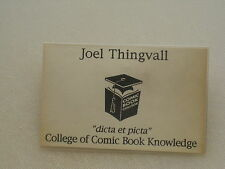 "Nametag COLLEGE OF COMIC BOOK KNOWLEDGE ""dicta et picta"""