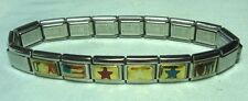"NOMINATION Charm Bracelet 3/8"" wide   6 charms"