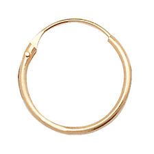 Unique Wishlist 9ct Yellow Gold 10mm Plain Hinged Sleepers ES315