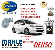 FOR CITROEN C3 1.1 2010-- ON OIL AIR FUEL POLLEN FILTER SERVICE KIT